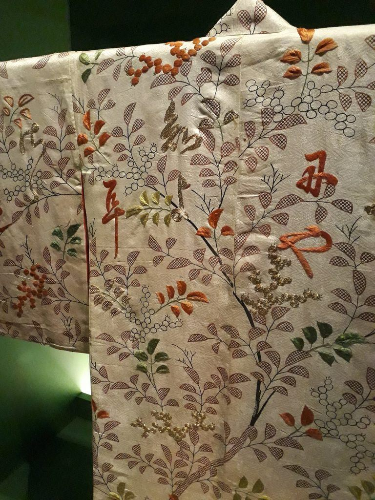 decorated embroidery on kimono